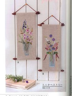 """Photo from album """"""""Herb flowers"""". Diy Embroidery Patterns, Hand Embroidery Projects, Silk Ribbon Embroidery, Embroidery Art, Cross Stitch Embroidery, Machine Embroidery Designs, Brazilian Embroidery, Cross Stitch Designs, Embroidered Flowers"""