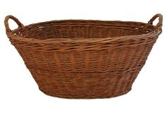 Early 1900s Woven French Market Basket