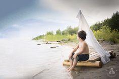 SBurritt Photography Canada boy on a raft fantasy child photography fine art runaway composite