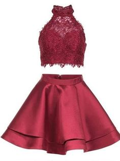 Princess Halter 2 Piece Homecoming Dresses,Mini Short Prom Dresses,apd2664
