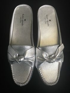 d42afd49fa6 Details about Kate Spade New York Women 9 M Mallory Mules Leather Metallic  Bow Detail  182.00
