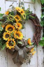 Farmhouse wreath for Front Door Sunflower wreath Fall wreath Rustic Country Double Door Sunflower wreath Back Porch Year Round decor Sunflower Door Hanger, Sunflower Wreaths, Diy Wreath, Grapevine Wreath, Wreath Ideas, Fabric Wreath, Burlap Wreath, Double Door Wreaths, Purple Door