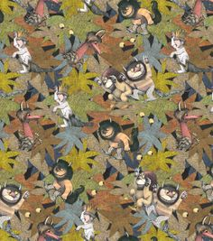 Licensed Cotton Fabric-Where the Wild Things Are Jungle , , hi-res