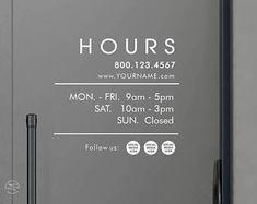 super Ideas for commercial office door store fronts Business Hours Sign, Door Coverings, Window Signage, Coffee Shop Design, Design Shop, Shop Facade, Shop Fronts, Signage Design, Window Stickers
