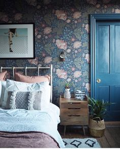 Victorian Bedroom 5 on Home Architecture Tagged on Victorian Bedroom Victorian Home Decor, Victorian Design, Victorian Gothic, Gothic Lolita, Floral Bedroom, Blue Bedroom, 1920s Bedroom, Jewel Tone Bedroom, Bedroom Boys