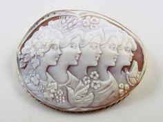 Bacchante de cameo massive déesse, Déméter (Cérès), Flora, Aphrodite (Vénus), psyché