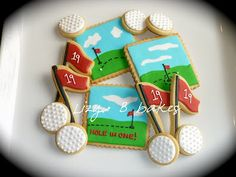 Sports Cookie designs!  I love that she shows you how on many of her posts. ~ homespun-threads.com