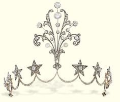 Tiara ca. 1860 via Christie's. I'm thinking this would be really good for your 20 year anniversary
