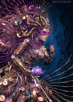 Animation Mother New Orleans by artist Meats Meier. Fantasy Women, Fantasy Art, Sculpture Art, Sculptures, Digital Art Gallery, Surreal Art, Fantasy Characters, Mind Blown, New Orleans