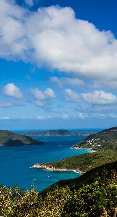Taking in the view in Tortola, British Virgin Islands.