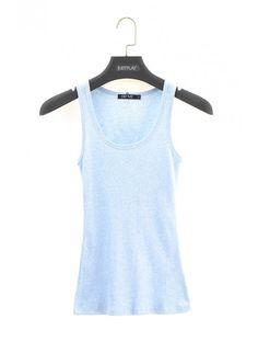 Dámske tielko Sunny 3 - Dámske tielka - Dámske spodné prádlo - Spodné prádlo - JUSTPLAY Sunnies, Basic Tank Top, Tank Tops, Blue, Women, Fashion, Moda, Halter Tops, Sunglasses