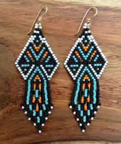 Turquoise Thunderbird Earrings by wildmintjewelry on Etsy, $45.00