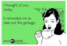 Especially when I think of my husband's ex. Lol