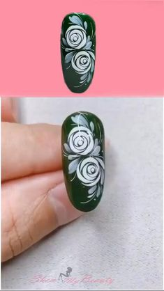 Rose Nail Art, Rose Nails, Flower Nail Art, Gel Nail Art, Diy Flower, Flower Nail Designs, Nail Designs Spring, Acrylic Nail Designs, Nail Polish Designs