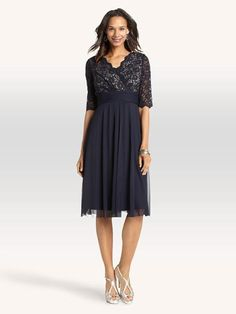 3/4 Sleeve Lace Top Dress
