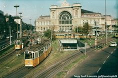 Keleti Railway Station and the Baross Square in front of it, Budapest, 1968