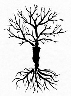Yoga Eagle pose Tree of Life stencil I designed for Helen :)