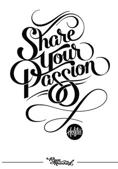 I Love Ligatures / Share Your Passion by Ryan Hamrick / #ligatures #typography #poster