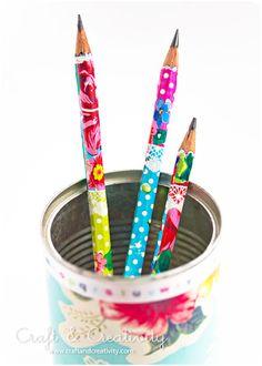 decoupage pencils