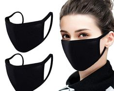 2 Pack Unisex Mouth Mask Adjustable Anti Dust Face Mask,Black Cotton Mouth Mask Muffle Mask for Cycling Camping Cotton Washable Reusable Cloth Masks Diy Mask, Diy Face Mask, Face Masks, Mouth Mask, Christen, Fashion Face Mask, Mask Making, Ear Loop, Go Shopping