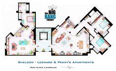 Sheldon, Leonard & Penny's Apartments