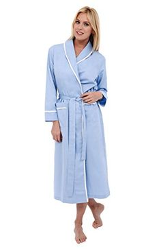 Del Rossa Women's Cotton Robe, Lightweight Woven Bathrobe...