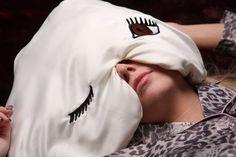 OMG love it. Winkzzz Sleep Mask Pillow in Ivory with Blue Brown or by 40Winkzzz, $30.00