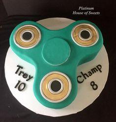 15 Best Fidget Spinner Cakes images | Fidget spinner cakes, Birthday ...