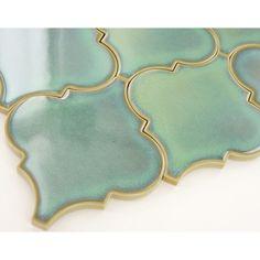 glossy-green-arabesque-tile-porcelain-mosaic-tile - The world's most private search engine Kitchen Tile, Green Kitchen, Ranch Kitchen, Porcelain Tile, Bathroom Interior, Tile Floor, Decoration, House Styles, Arabesque Tile Backsplash