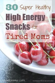 Super Moms! Keep your energy up with these easy-to-pack, healthy, and energizing snacks.