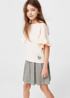 Ruffled sleeve t-shirt