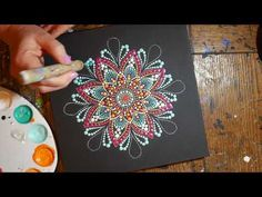 How to paint dot mandalas with Kristin Uhrig #37- Tracing paper - YouTube