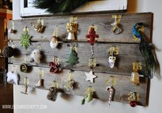All Things Thrifty Home Accessories and Decor: HUGE Barn Wood Christmas Advent Calendar