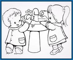 Resultado De Imagen Para Rincon De Aseo Para Infantes Teaching Art Abuse Art Drawing For Kids