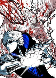 One Punch Man - Garou VS Genos