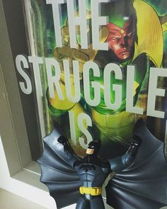 #theVision making sure you know the struggle is real and it's #Batman | #Batmanology @Batmanology