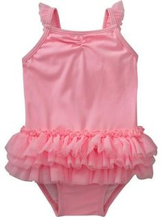 Old Navy pink tutu swimsuit size 6-12m $5