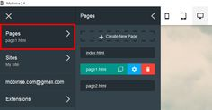 """Mobirise Free Website Builder Software v2.4 - Updated """"Pages"""" panel  http://mobirise.com"""