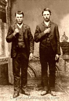 Frank and Jesse James, outlaws