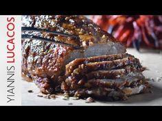 Σιγοψημένο χοιρινό με μπαχαρικά | Yiannis Lucacos - YouTube Side Dishes, Steak, Dinner Recipes, Pork, Lunch, Recipes, Pork Roulade, Side Plates, Pigs