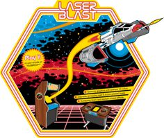 personnaliser tee shirt Laser Blast