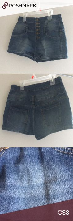 Bluenotes high waisted denim shorts sz 28 High waisted button front denim shorts from Bluenotes. Size 28 and fit true to size. A little bit of pulling and wash wear but not overly noticeable. Waisted Denim, Plus Fashion, Fashion Tips, Fashion Trends, Jean Shorts, Flat, Button, Pants, How To Wear