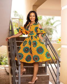 Simple And Cute Flare Ankara Gown With Draped Sleeves