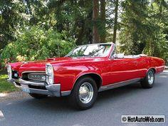 1967 Pontiac GTO Convertible ( My car was Montero Red w/ a Black Vinyl Hardtop )