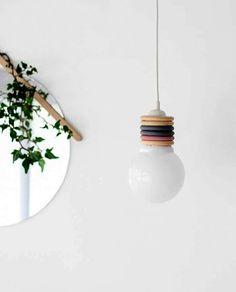 *Decoração e Invenção*: Luminária Pendente DIY   Adorei !!!!