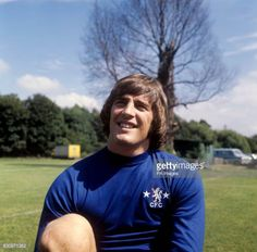 Portrait of Chelsea FC footballer Ian Hutchinson