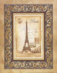 Andrea Laliberte - 'Paris Postcard'