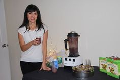 Sara Siskind of #HandsOnHealthy at the Deeva Dance and Fitness Studio 1 year anniversary party!
