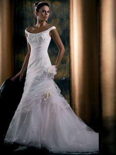 New Strapless Amazing Beads Empire Wedding Dress Bridal Gown Soft satin Size 2-4-6-8-10-12-14-16-18-20++++