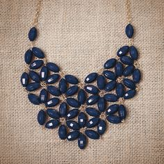 Navy Tessellate Necklace. Tons of colors and styles! $14.95